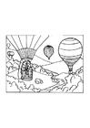 Disegno da colorare mongolfiera