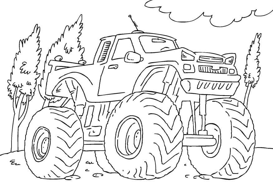Kleurplaten Monster Trucks Print Disegno Da Colorare Monster Truck Cat 27165
