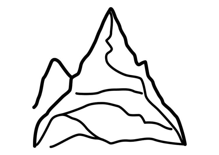 Disegno Da Colorare Montagna Cat 10450