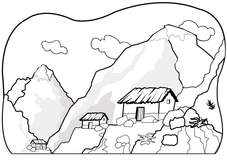 Disegno da colorare montagne cat 7075 - Immagini da colorare delle montagne ...