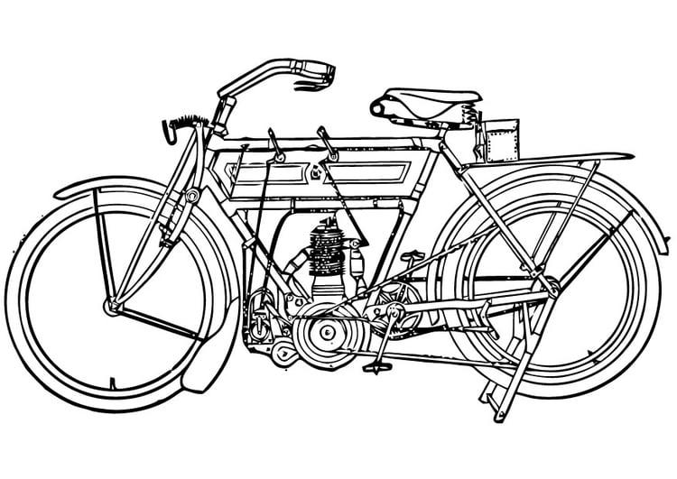 Disegno Da Colorare Moto Cat 16453