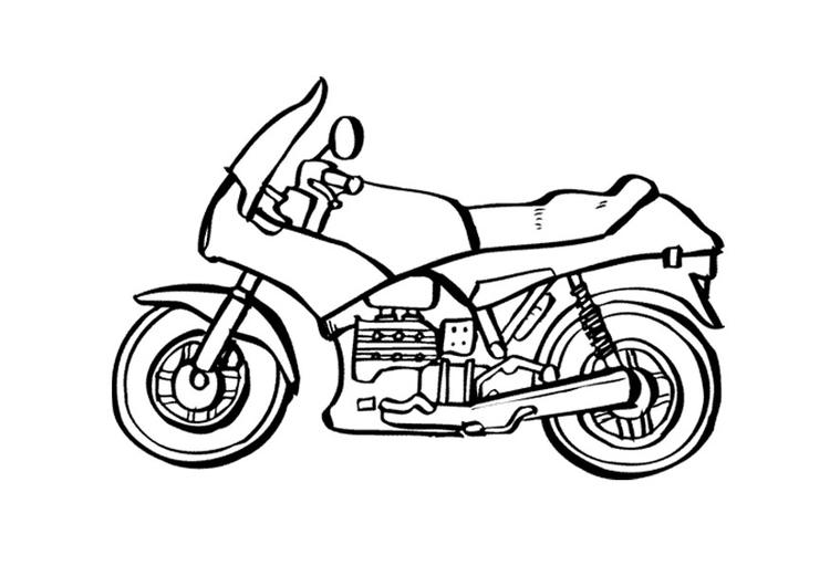 Disegno Da Colorare Moto Cat 9535