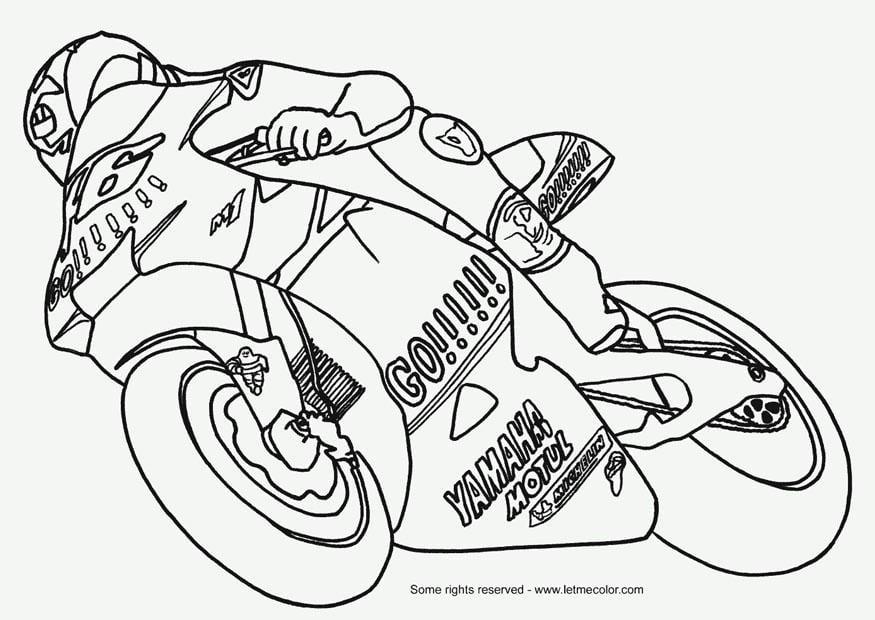 Disegno Da Colorare Moto Gp Disegni Da Colorare E Stampare Gratis