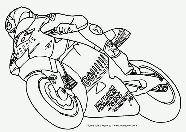 newest collection 0ce1b c40b7 Disegno da colorare Moto GP - Cat. 9792. Images