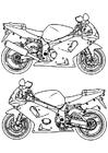 Disegno da colorare moto