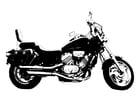 Disegno da colorare motocicletta - Honda Magna