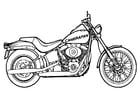 Disegno da colorare motocicletta