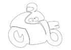 Disegno da colorare motociclista