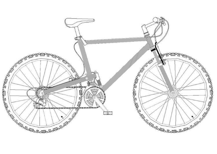 spesso Disegno da colorare mountain bike - Cat. 11974. KI13