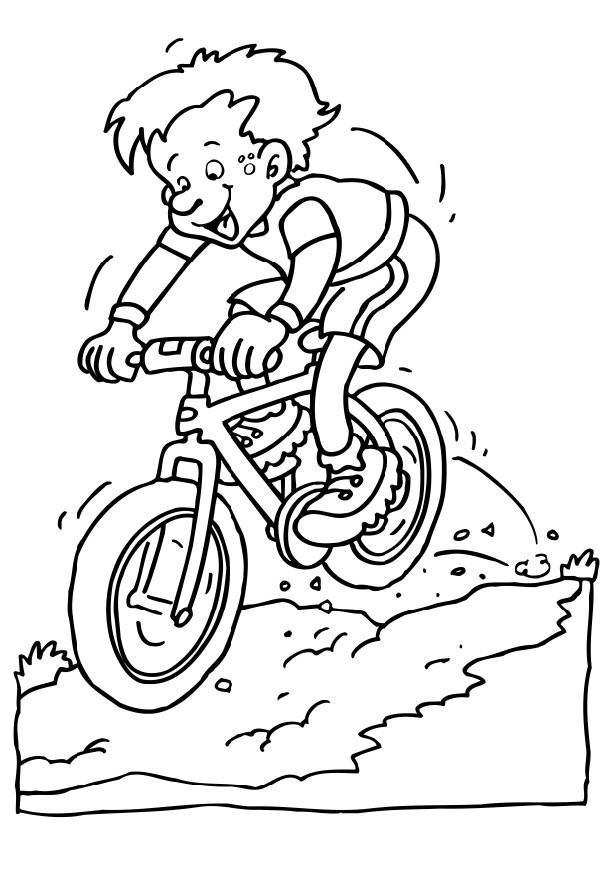Ben noto Disegno da colorare mountainbike - Cat. 6592. UZ95