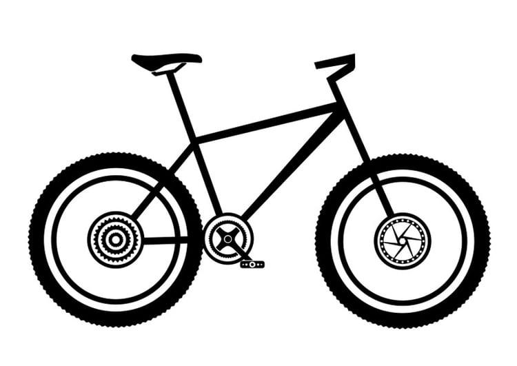 Molto Disegno da colorare mountainbike - Cat. 27505. NM47