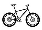 Disegno da colorare mountainbike