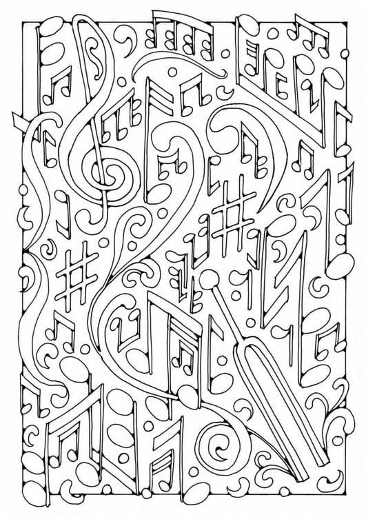 Disegno da colorare musica cat 19589 images for Disegno terra da colorare