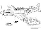 Disegno da colorare Mustang P-51