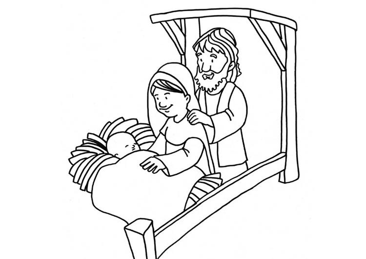 Disegno Da Colorare Nascita Di Gesù Cat 18665