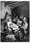 Disegno da colorare nascita di Gesù