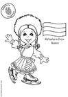 Disegno da colorare Natasha dalla Russia