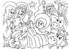 Disegno da colorare Natività - la nascita di Gesù