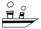 Disegno da colorare nave a vapore