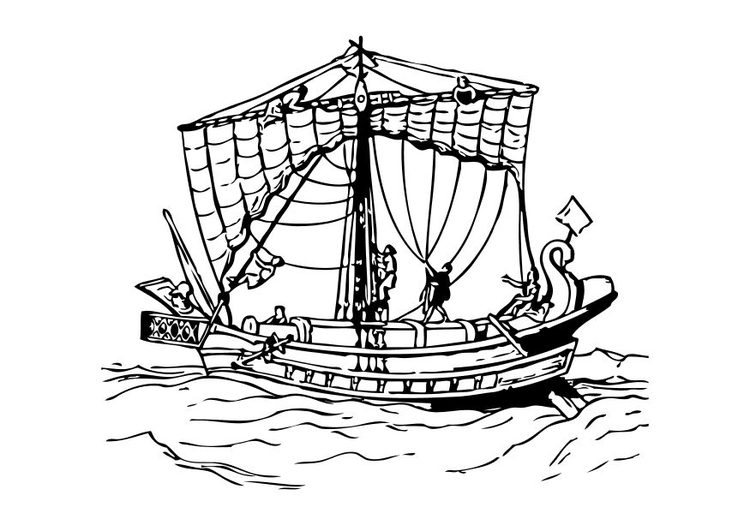 Disegno Da Colorare Nave Romana Cat 10501