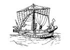 Disegno da colorare nave romana