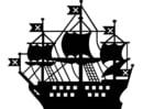 Disegno da colorare nave