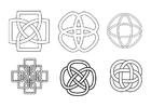 Disegno da colorare nodi celtici