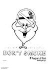 Disegno da colorare non fumare