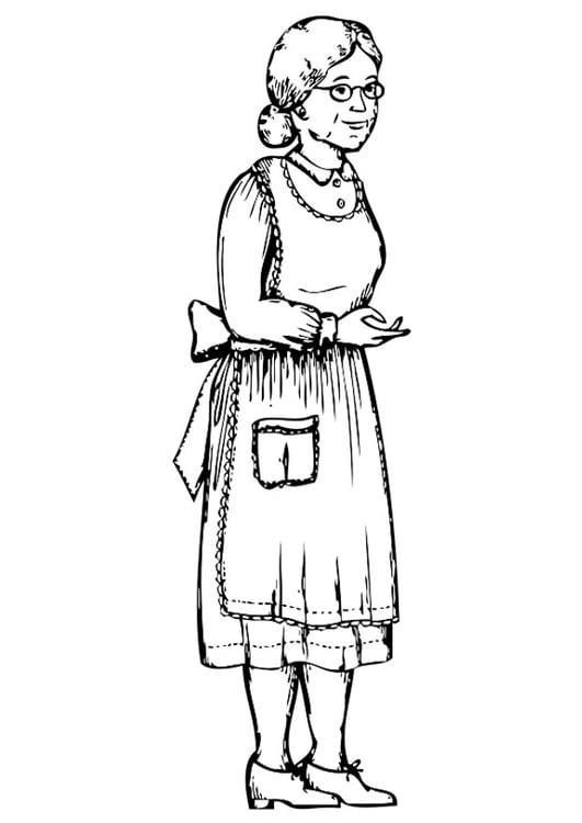 Nonna Da Colorare.Disegno Da Colorare Nonna Disegni Da Colorare E Stampare Gratis