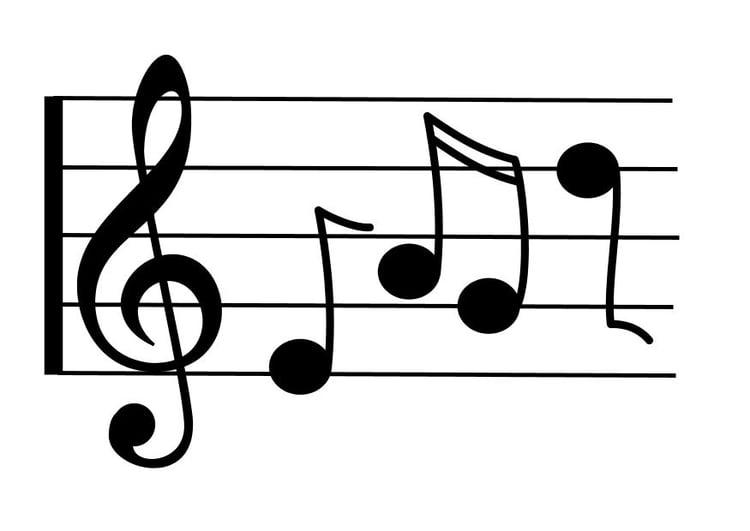 Disegno da colorare note musicali cat 10345 - Note musicali da colorare pagina da colorare ...