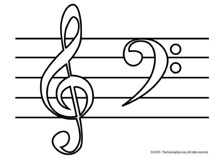 Disegno da colorare note musicali cat 5950 - Note musicali da colorare pagina da colorare ...