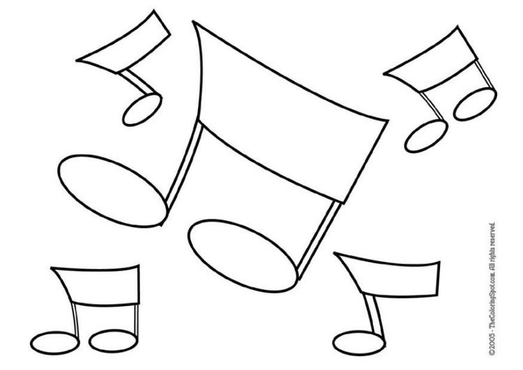Disegno da colorare note musicali cat 5953 - Note musicali da colorare pagina da colorare ...