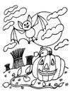 Disegno da colorare notte di Halloween