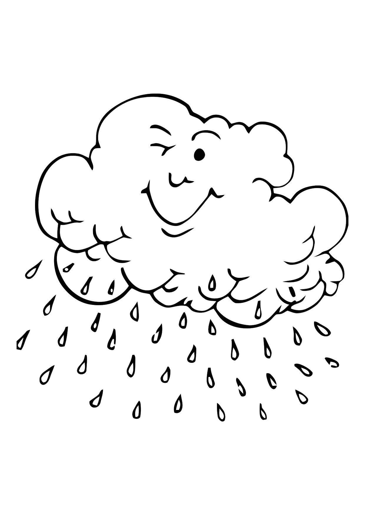 Disegno da colorare nube di pioggia cat 11352 for Sole disegno da colorare