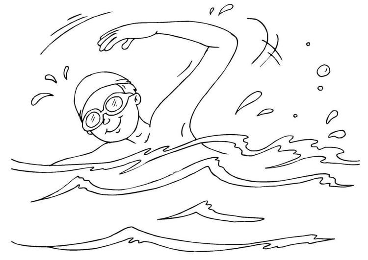 Disegno da colorare nuotare cat 25986 for Disegno pesciolino da colorare