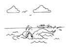 Disegno da colorare nuotare