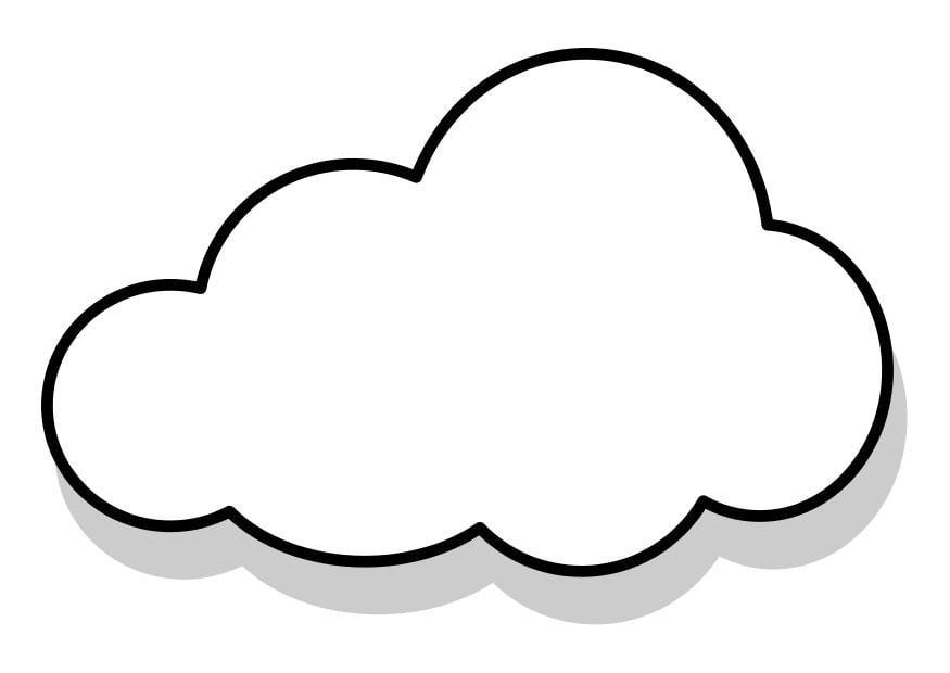 Disegno da colorare nuvola cat 22857 for Disegno 3d free
