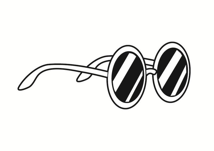 Disegno da colorare occhiali da sole cat 23371 for Immagini sole da colorare