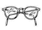 Disegno da colorare occhiali