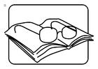 Disegno da colorare occhialini da leggere
