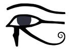 Disegno da colorare occhio di Horus