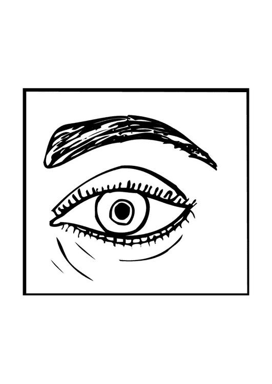 Disegno da colorare occhio cat 9526 - Oeil a colorier ...