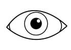Disegno da colorare occhio