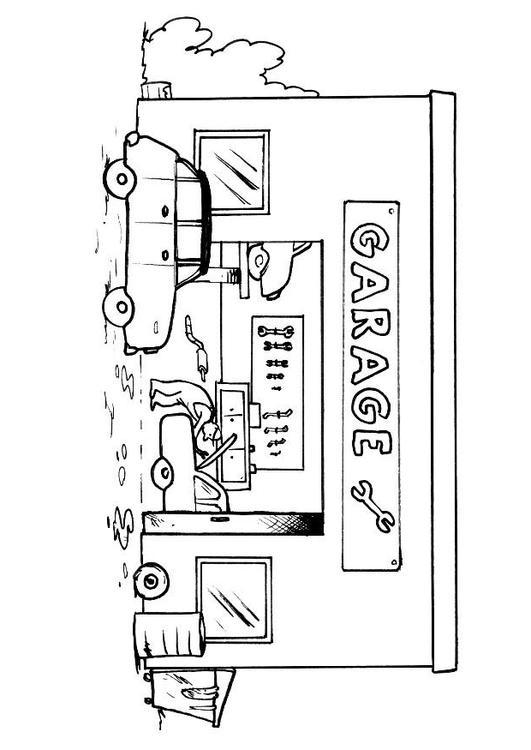 Disegno Da Colorare Officina Meccanica Cat 8156