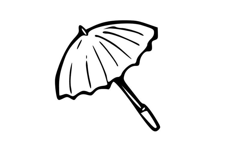 disegno da colorare ombrello  disegni da colorare e