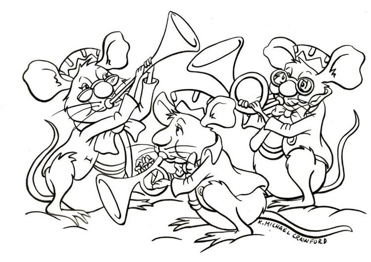 Disegno da colorare orchestra cat 7347 for Orchestra coloring pages