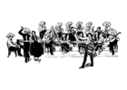 Disegno da colorare orchestra messicana