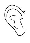 Disegno da colorare orecchio