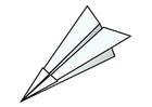 Disegno da colorare origami - aeroplanino