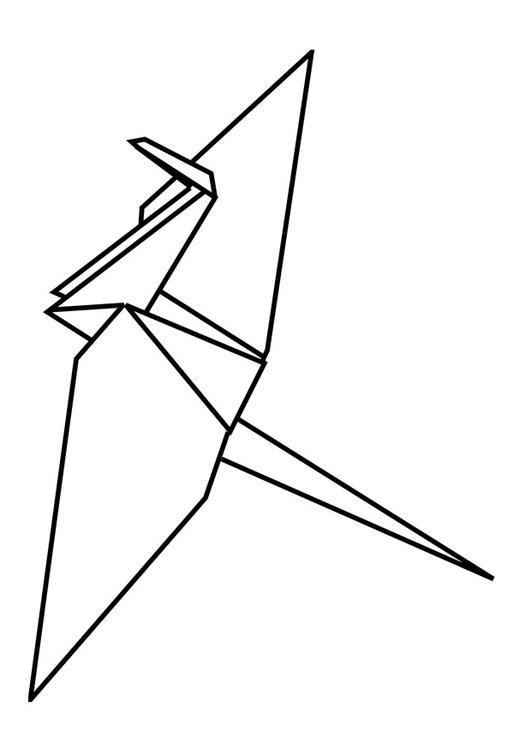 disegno da colorare origami p29094